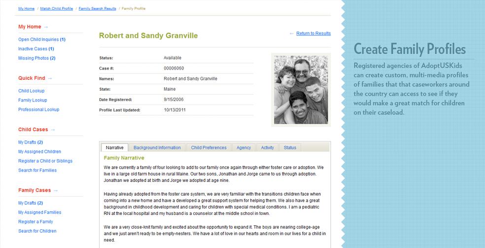 Creating Family Profiles - AdoptUSKids